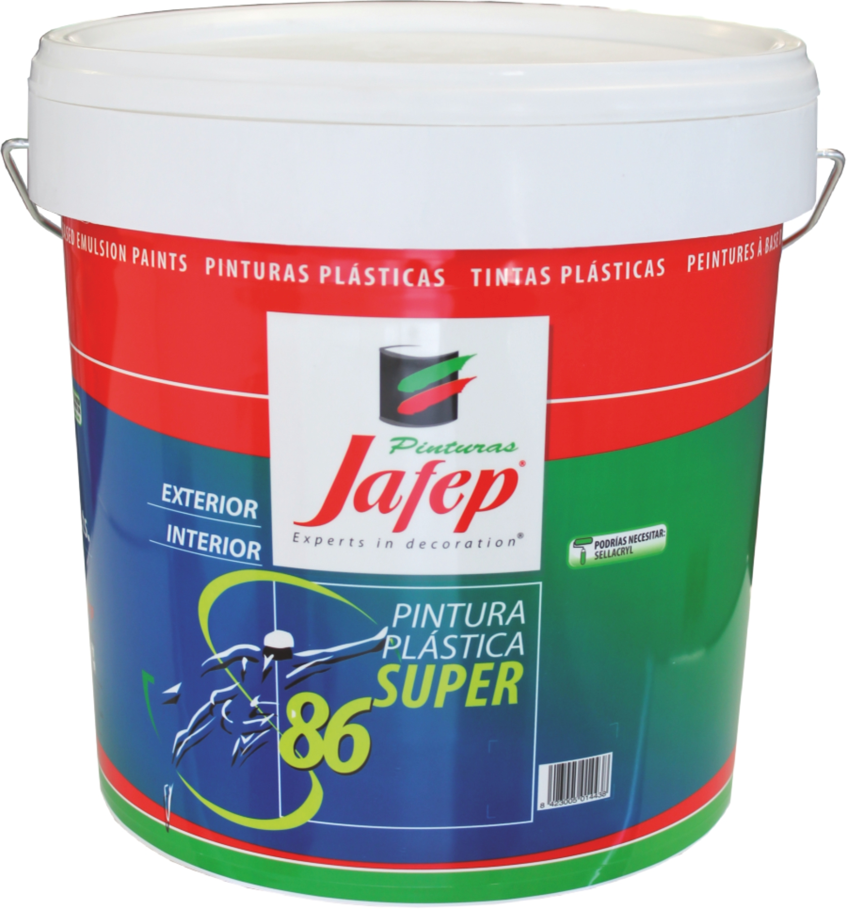 Super 86 vinylique peintures jafep for Pintura para interiores 2016