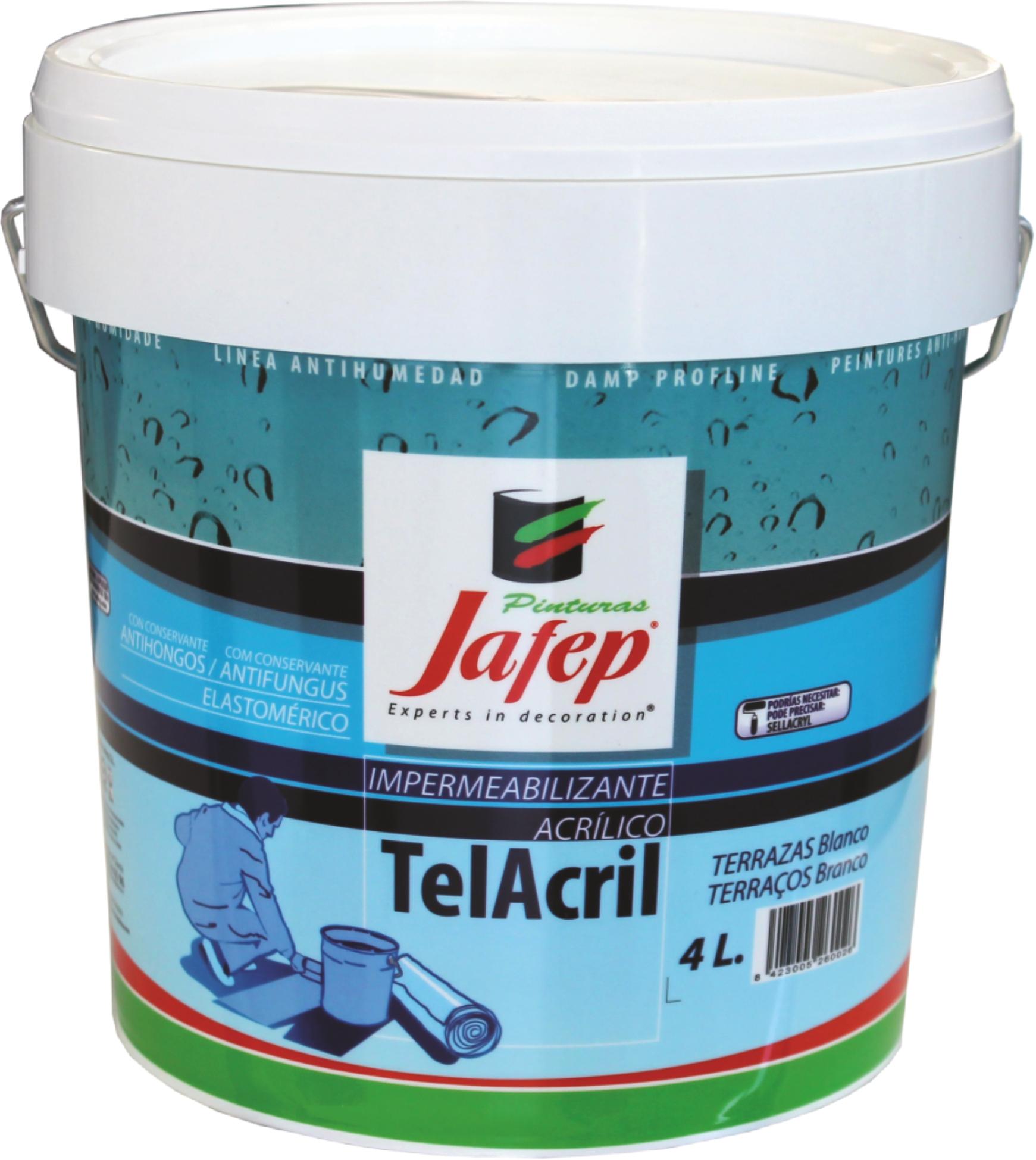 Telacril fibrado pinturas jafep - Pintura satinada blanca ...