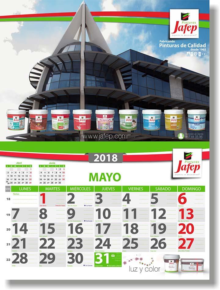 nuevo calendario jafep 2018